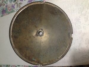 Vintage 1930s Housing Headlight Round Single Brass Reflector Rat Rod