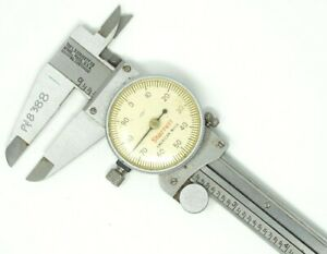 Offset Dial Caliper L s Starrett Co No 120 Hardened Stainless Steel 0 6