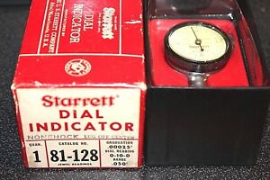 Starrett Dial Indicator 81 128 Very Nice With Box