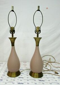 Pair Of Vintage Mid Century Table Lamps