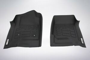 2 Piece Front Row Black Floor Mats For A 2015 2019 Gmc Yukon