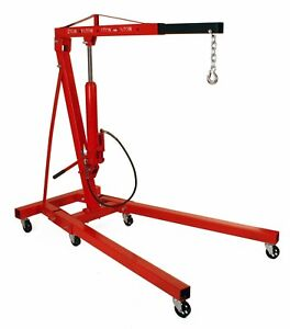 Dragway Tools 2 Ton Folding Air Hydraulic Engine Hoist Cherry Picker Shop Crane