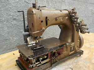 Industrial Sewing Machine Union Special 54 200 J brown with Rear Puller