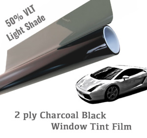 36 X 20 ft 50 Vlt Charcoal Black Window Tint Film Uncut Roll Light Shade