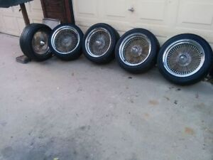 Wire Wheel And Tire 17 X 8 Set Of 5