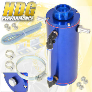 350ml 11 8 Oz Blue Overflow Catch Can Tank Radiator Coolant Expansion Reservoir