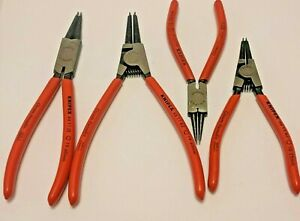 Lot Of 4 Knipex Precision Snap ring Circlip Pliers Set 44 11