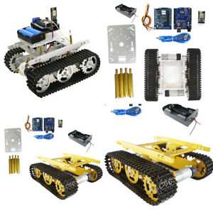 T100 Smart Wireless Metal Robotic Tank Car Chassis Kits Motor For Arduino