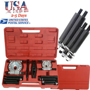 12pcs Bearing Separator Gear Puller Set 2 And 3 Splitters Remove Bearings Kit