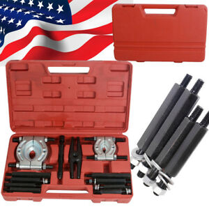 Portable 12pcs Bearing Separator Puller Set 2 3 Splitters Remove Bearings Kit