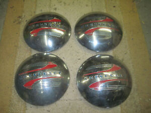 Vintage 1941 48 Chevrolet Dog Dish Hubcaps Set 4 Hub Caps Car 1 2 Ton Truck