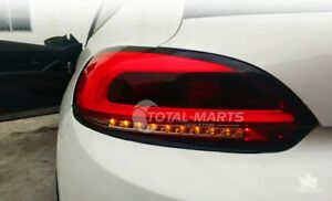 Led Tail Lights For Vw Scirocco 2009 2014 Dark Red Led Rear Lamps Assembly Hv119
