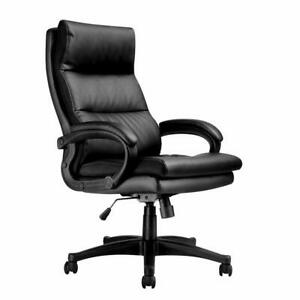 Langria High back Pu Leather Office Chair Adjustable Executive Manager Swivel