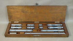 Vintage Lufkin Rule Co 1 10 Tubular Inside Bore Micrometer Set