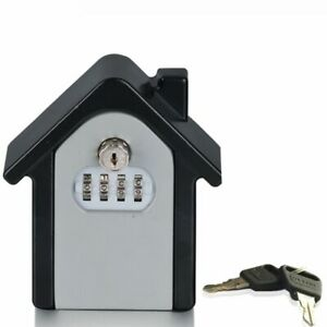 Keys Storage Box Security Wall Mounted Combination Lock Password Home Family