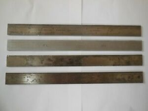 L s Starrett Brown Sharp Steel Rule 12 Inch For Combination Square Lot Of 4