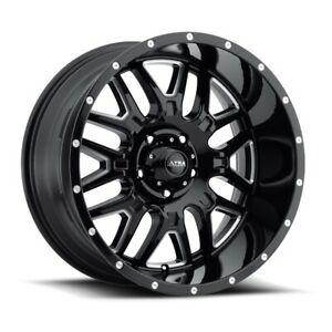 Ultra 203 Hunter 20x9 6x139 7 Et 18 Blk milled Accents And Clear Coat qty Of 4