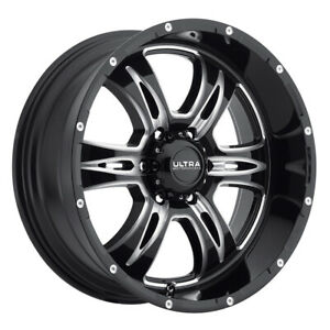 Ultra 249 Predator Ii 18x9 6x139 7 Et 18 Blk Milled And Clear Coat qty Of 4