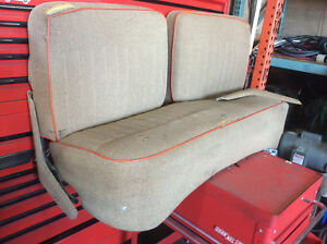 Vintage Front Seat Bench Bottom Fold Down Backs With Working Frame