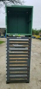 Stanley Vidmar 13 Drawer Industrial Tooling Cabinet optional Uppr Shelving Unit