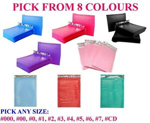 Colour Poly Bubble Mailers Padded Bags Shipping Mailing Self Seal Envelopes