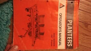 Allis Chalmers 385 600 390 330 770 4 6 8 12 Row Planter Owners Operators Manual