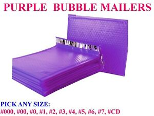 Purple Poly Bubble Mailers Padded Bags Shipping Mailing Self Seal Envelopes