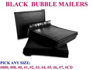 Black Poly Bubble Mailers Padded Bags Shipping Mailing Self Seal Envelopes