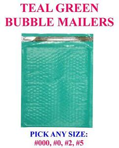 Teal Green Poly Bubble Mailers Padded Bags Shipping Mailing Self Seal Envelopes