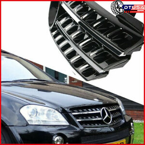 Black Chrome 3 Front Grill Grille Emblem For Mercedes Benz Ml63 Amg W164 2005 08