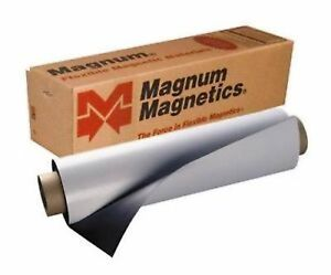 Magnum Mag 24 X 10 Ft Roll 30 Mil White Magnetic Sign Sheet Cars Crafts