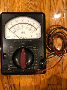 Triplett Model 630 Volt Ohm Mil ammeter Original Box Manual Included