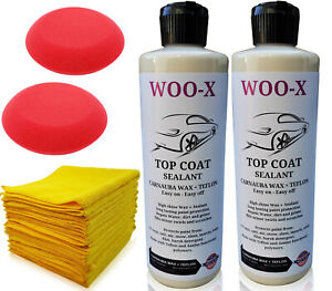 Woo X Car Paint Sealant And Protectant Made With Teflon Polymer High Gloss Coat