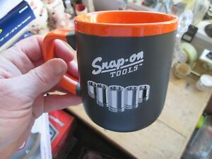 Snap On Tools Classic Chrome Garage Limited Edition Orange Black Mug Cup