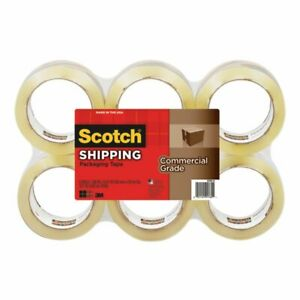 Scotch Commercial Grade Packing Tape 1 7 8 X 54 6 Yd Clear Pack Of 6