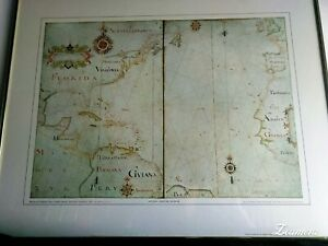 Florida Caribbean S America Reproduction Of 1650 Nicholas Comberland Map