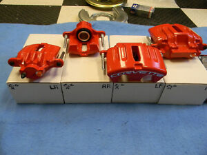 05 2013 C6 Corvette Genuine Oem Red Brake Calipers Fronts Rear Remanufactured