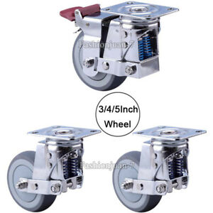 4pcs Heavy Equipment Gate Industrial Casters Spring Damping Anti seismic Casters