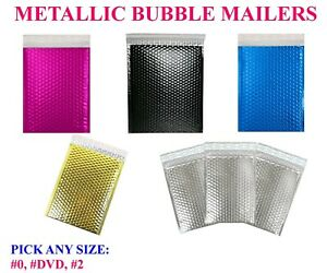 Metallic Bubble Mailers Poly Design Padded Shipping Envelopes Bags Seal Foil
