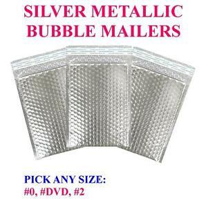 Silver Metallic Bubble Mailers Padded Mailing Shipping Envelopes Bags Seal Foil