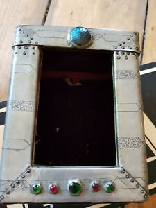 Vintage Arts And Crafts Antique Caubouchon Carriage Clock Case Pewter Liberty