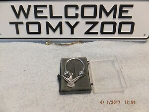 Vintage Ford Thunderbird Emblem Badge Key Ring Chain Sterling Silver Unique