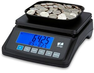 Coin Counting Scale Checker Money Cash Currency Counter Battery Machine Usd Zzap