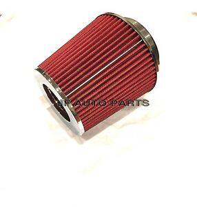 4 6 75 h Cold short Ram Intake High Flow Cone Red Air Filter 3 3 5 Reducer