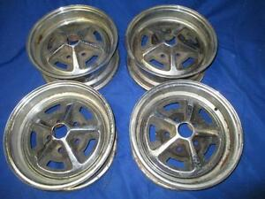 Set 14 Chrome Magnum 500 Rims Used Mopar 4 Backspacing 4 5 Inch Bolt Pattern