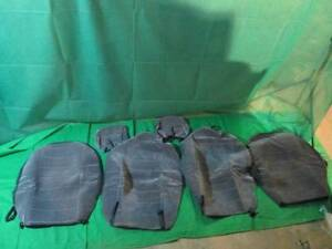 Set Of 2 Grey Low Back Bucket Seat Covers
