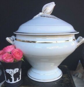 Antique French Paris Porcelain Tureen