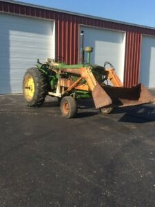 John Deere 4010 Tractor Diesel Engine With Great Bend Loader