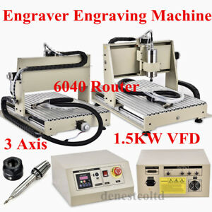 3 Axis 6040 Cnc Router Engraver 1 5kw Spindle vfd Engraving Mill Carving Machine