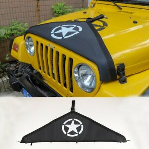 For 1997 2006 Jeep Wrangler Tj Accessories Front Hood Cover Protector Black Star